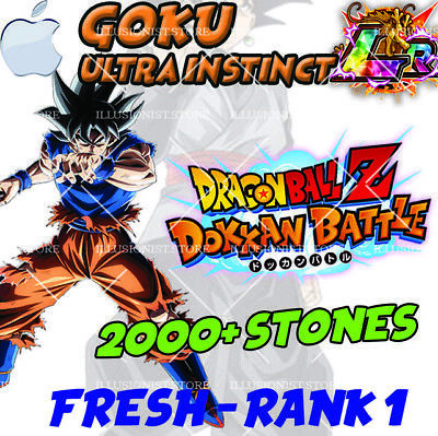 🌟 Goku UI LR with 2000+ Stones FOR Dokkan iOS APP Global 🌟Battle Stones FRESH