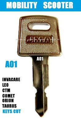Invacare Key For On/Off (  A01 )  Scooter Key Ctm  Orion  Taurus  Comet  Leo