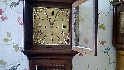 Longcase grandfather clock by Andrew Padbury from early 18th century.