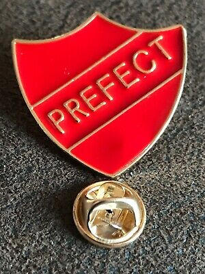 Stunning Iconic Red School PREFECT Metal Top Quality Pin Badge Hen Party Stag