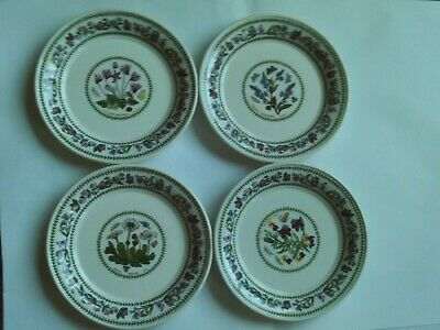 4 portmeirion botanic garden variations side plates EXCELLENT NEW CONDITION