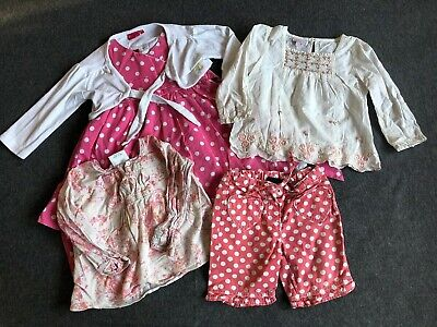 5 piece baby girl Next Monsoon bundle dress tops shorts age 18-24 months