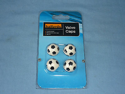 Football Style Car Tyre Valve Caps  - Set Of Four - New!