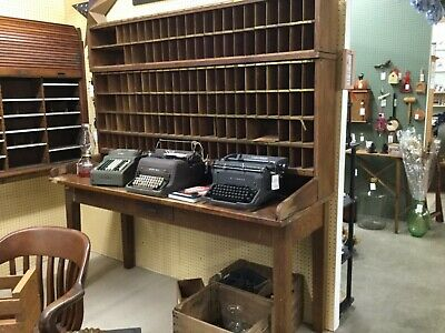 Antique 1800's Country Store Post Office Sorter And Tablr