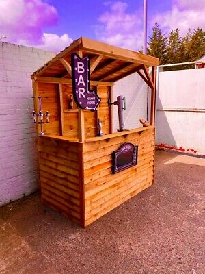 Garden Bar - 6ft x 3ft -Free delivery to Wirral & Chester-Home Bar Fast Delivery