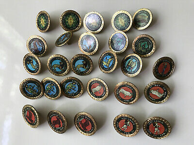 Vintage Golf Ball Markers Zodiac Signs Putting Green Markers Joblot Of 27