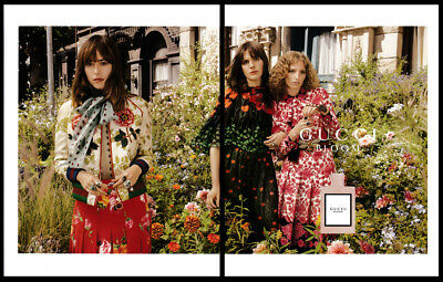Dakota Johnson 2-page clipping 2017 ad for Gucci Bloom