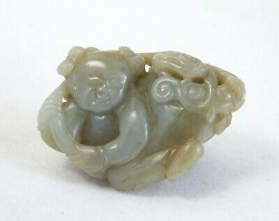 Fine antique 18th century Chinese jade carving