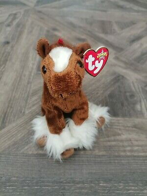 TY Beanie Babies Hoofer Brown Horse Rare Retired Excellent Original Tag