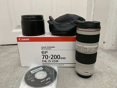 Canon EF 70-200mm F/4 L IS USM Lens, Great Condition is Used.