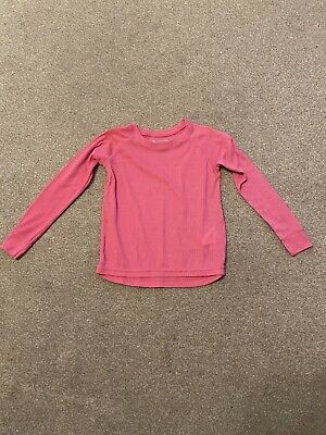 Girls Pink Long Sleeved Thermal Top Age 5-6 Years From Mountain Warehouse