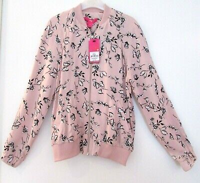 New With Tags Girls Lightweight Summer Jacket Pink Floral Print 7-8 Years