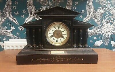 ANTIQUE GERMAN 'HAC'  8-DAY MANTEL CLOCK WITH CHIME for restoration