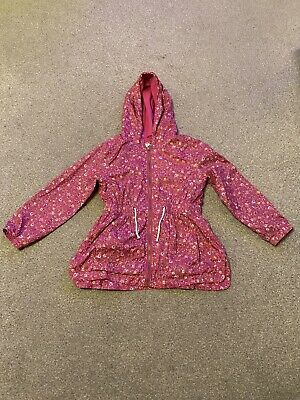 Girls Pink Lightweight Hooded Coat Age 8 Years From Mothercare