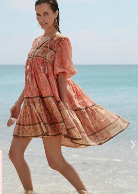 NWT Spell & The Gypsy Collective Seashell Boho Mini Dress, XS