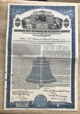 Southern Bell Telephone & Telegraph Gold Bond 1947 Vignette