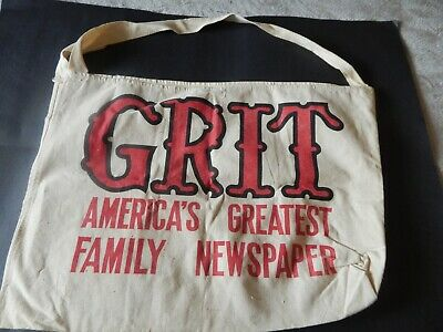 GRIT NEWSPAPER BAG FROM THE 60s
