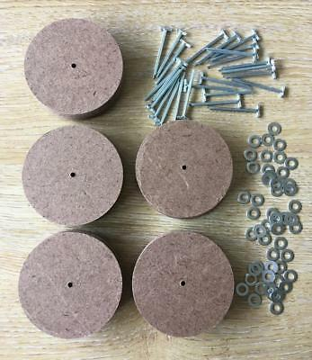 64mm Teddy Bear Cotter Pin Joints x 25 pins, 50 washers & 50 disks (for 5 bears)