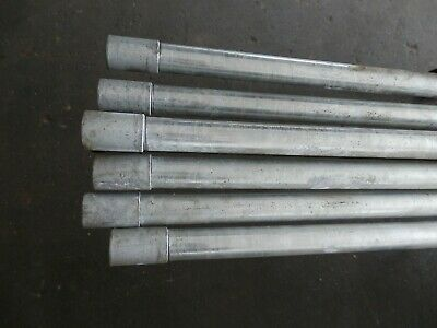7 Number - 20Mm Galvanised Metal Conduit / Tube