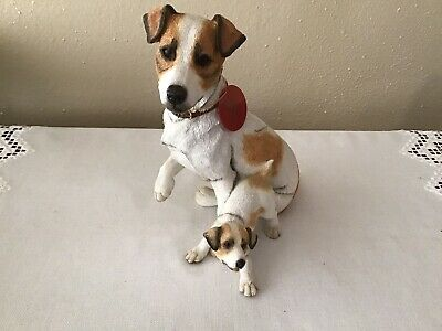 Country Artists Jack Russell Terrier With Puppy Figurine