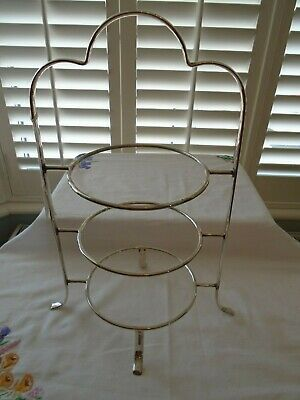 Vintage Antique  Silver Plated  3 Tiered Teaset Cake Stand  Lot G