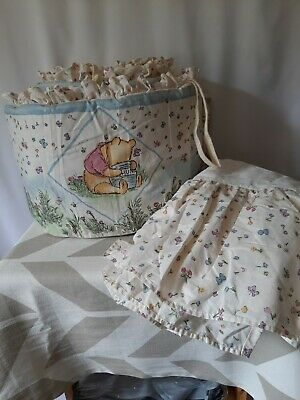 Vintage style Winnie The Pooh Crib Bumper And Bed Skirt