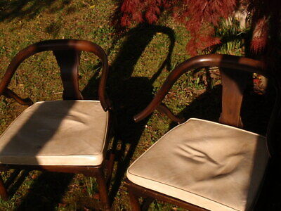 A Pair Of Vintage Asian Oriental  Chinese Wooden Chairs