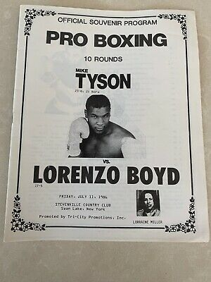 Mike TYSON v Lorenzo BOYD 1986 Official Onsite Boxing Programme