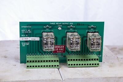 Eaton Dynamatic 15-242-65 Three Relay Output Module
