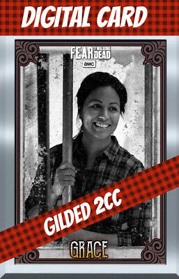 Topps Card Trader Twd Fear The Walking Dead Grace 2 Cc Gilded Vintage Silver