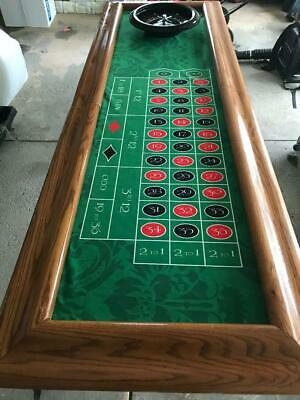 "ROULETTE TABLE, CARRYING CASE, 2 PLAY FIELDS, 500 POKER CHIPS, 8'6""x 2'8"""