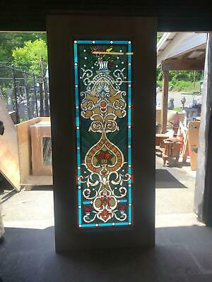 Beautiful Hand Made Stained Glass Victorian Style Entry Door - Jhl2167-10