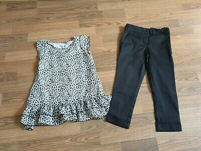 Girls Next Outfit Set  Top and Black Pants Trousers 6-7 Years