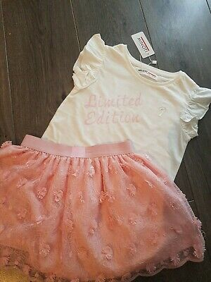 Girls Age 5/6 Skirt/top Set Bnwt
