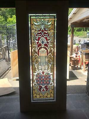 Beautiful Hand Made Stained Glass Victorian Style Entry Door - Jb23