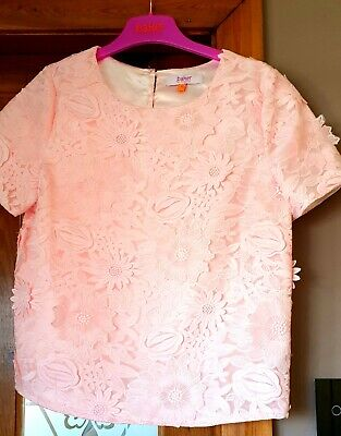 Ted baker Girls Lace Floral Top In Blush Pink size 13 years