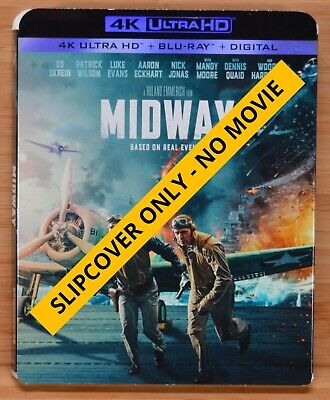 MIDWAY (2019) 4K UHD Blu-ray Slipcover Dust Cover (NO MOVIE DISCS)