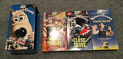 VHS Box Set: Wallace & Gromit - Claymation,  2 Academy Awards shorts, 3 films