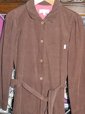 Marie Chantal Girls Brown Needlecord/ Fine Corduroy Coat/ Age 7-8/ Excellent