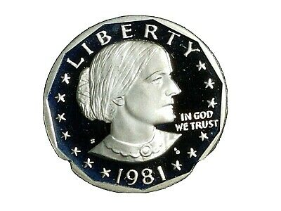 1981 S Proof Dcam Susan B Anthony  Dollar  Type 1~~Mirrored Fields !