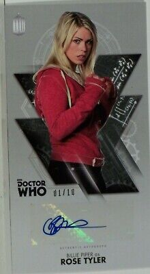 2016 Topps Doctor Who Widevision Billie Piper Silver Foil Autograph 1/10