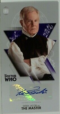 2016 Topps Doctor Who Widevision Derek Jacobi Autograph