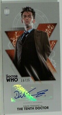 2016 Topps Doctor Who Widevision David Tennant Bronze Foil Autograph 16/25