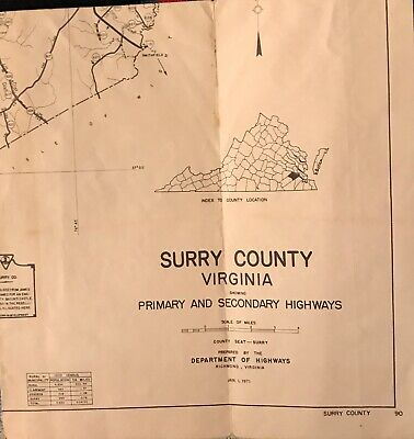 Map of Surry County /Virginia