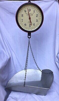 **Vintage CHATILLON Hanging Scale 20 lb w/ Scoop, 1940's**