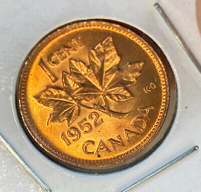 1952 Canada Cent Gem BU Uncirculated Blazer! Red And Bold!