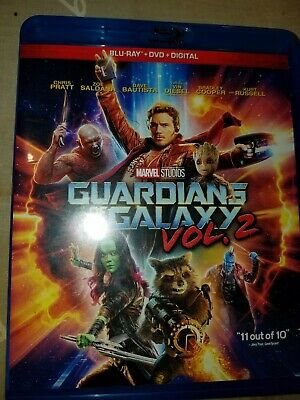 Guardians of the Galaxy Vol. 2 (Blu-ray/DVD, 2017) Marvel Dvd Bluray as is