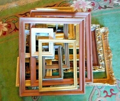 Original wooden frames old and modern in different styles and sizes.