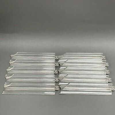 "Lucite Acrylic Prisms Mid Century Modern Clear Vintage 6 1/2"" Long Lot of 10"