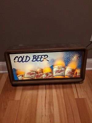 Vintage Miller High Life Cold Beer Lighted Bar Sign Rare